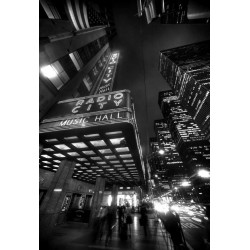 Stampa in alta risoluzione foto music hall Broadway